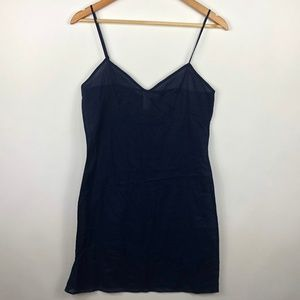 Navy Thin Beach Cover Shift Slip Lining Dress 6